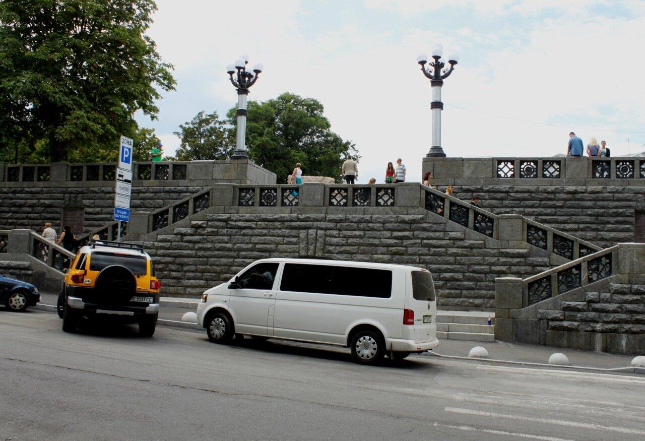 Лестница с Владимирской к фундаменту Десятинной церкви