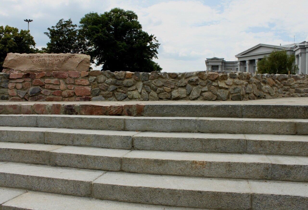 Часть восстановленного фундамента Десятинной церкви