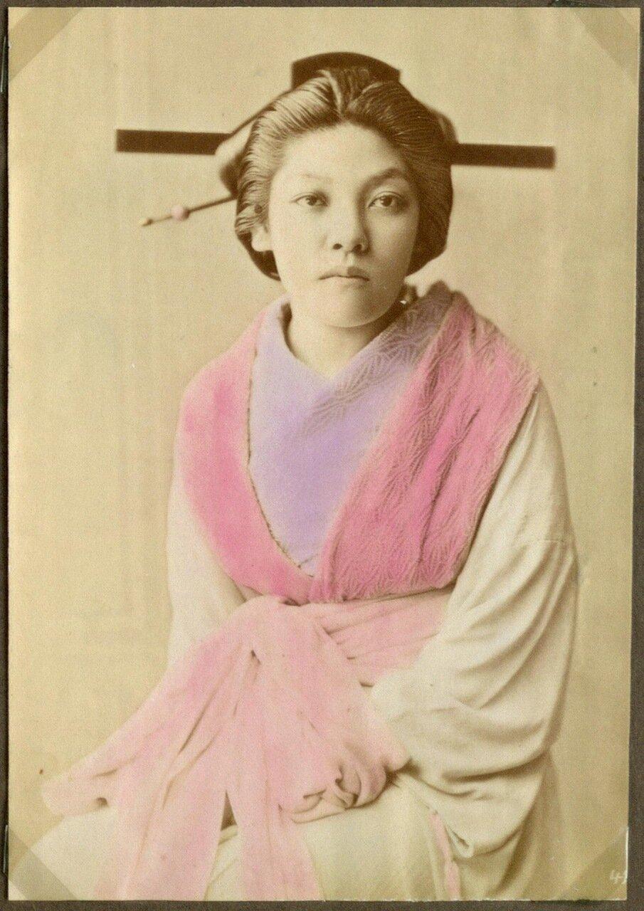 Проститутка с канзаши в волосах