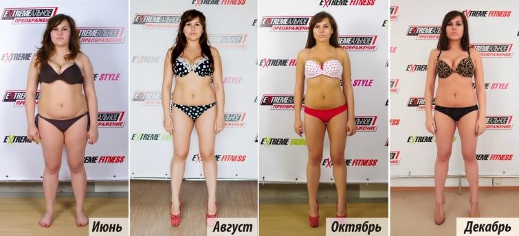 8 похудеть кг весе 65 при на