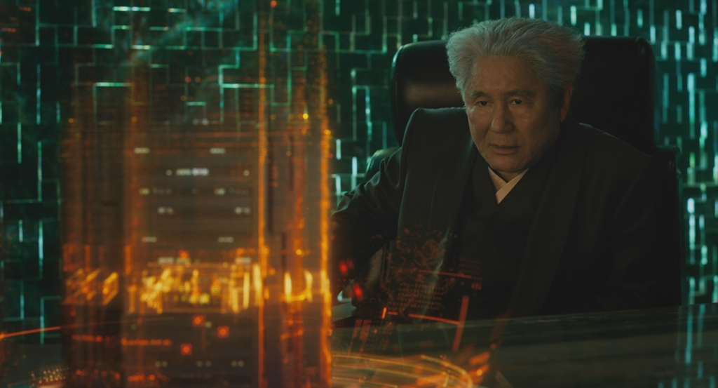 """Beat"" Takeshi Kitano plays Aramaki in Ghost in the Shell from Paramount Pictures and DreamWorks Pictures in theaters March 31, 2017."