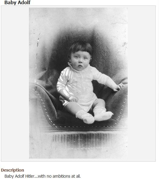 Гитлер младенец.