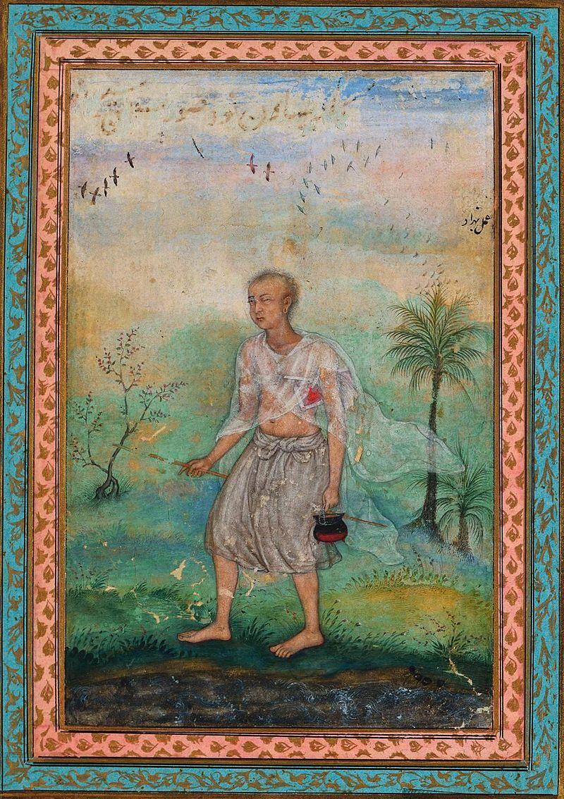 Басаван. Джайнский аскет, идущий по берегу реки, ок. 1600.jpg