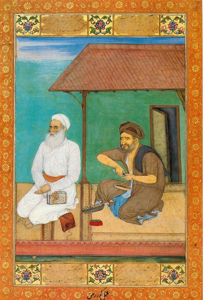 Говардхан. Шейх Хусейн Джами со слугой. 1620-25гг.jpg