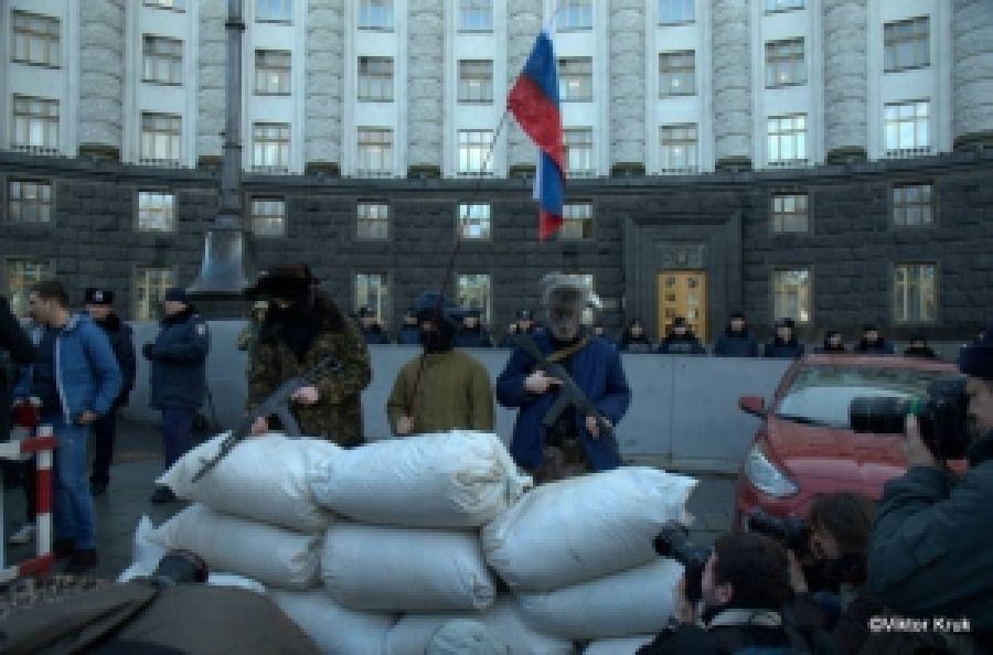 Праве Киева под Кабмином требовали бойкота РФ