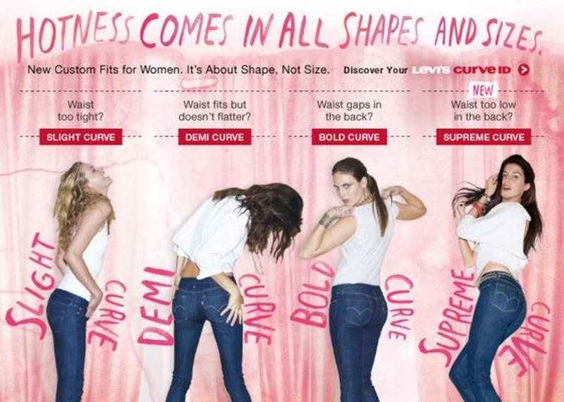 Компания Levi's считает, что на этом изображении представлены все возможные типы женской фигуры. В 2