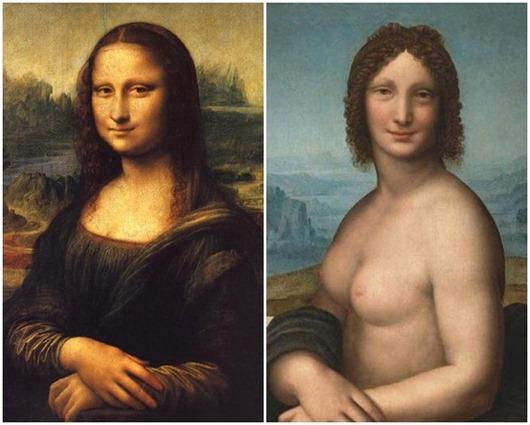 3. «Мона Лиза» Мало кто знает, что существует два варианта известной всем картины. Одна из них назыв