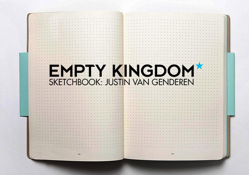 The art of Justin Van Genderen makes me want to climb into a spaceship and rocket and blast into the