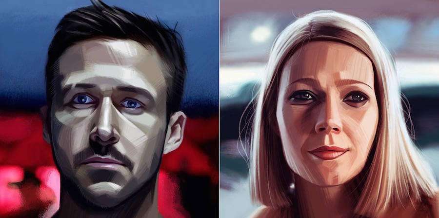Realistic Portraits of Movie and TV Characters