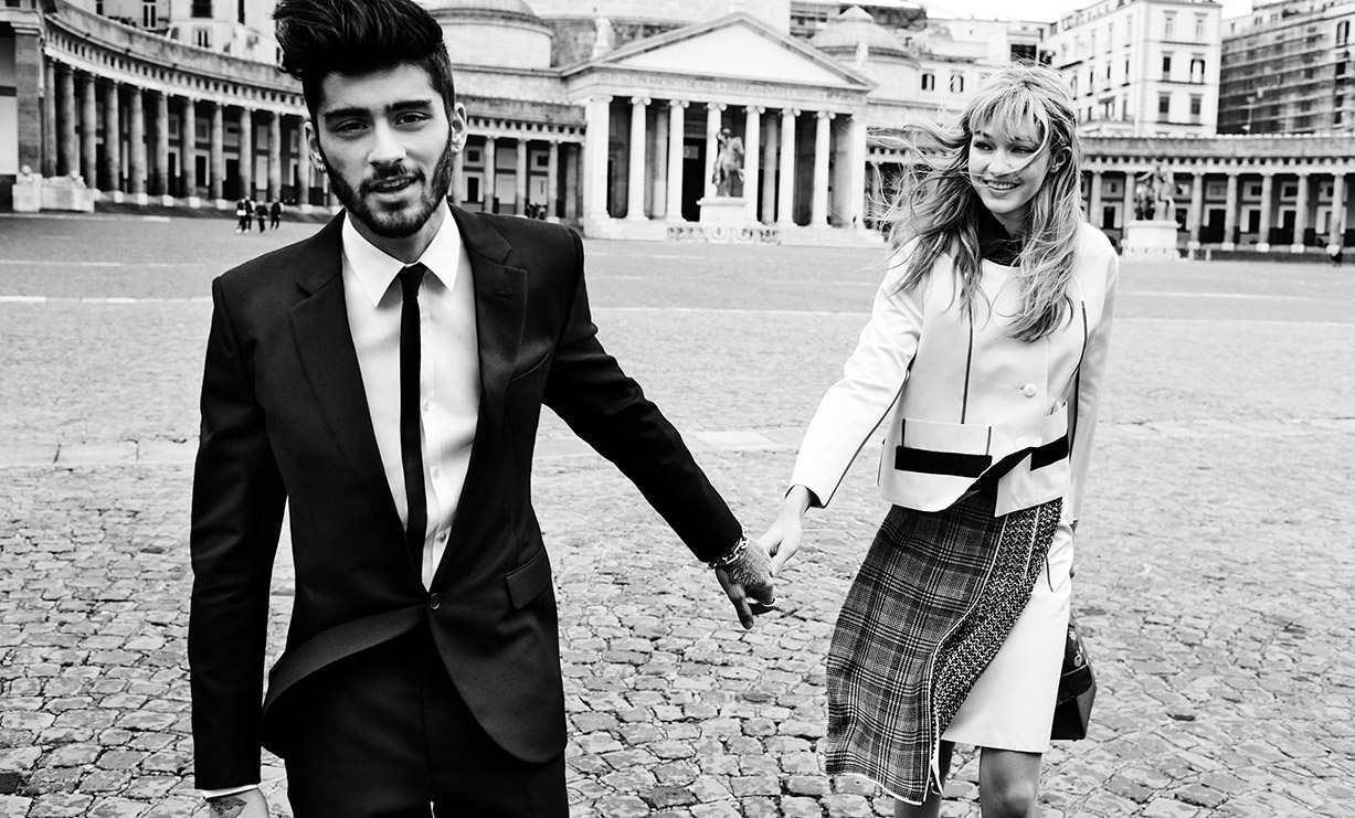 Джиджи Хадид / Gigi Hadid & Zayn Malik by Mario Testino in Vogue US may 2016