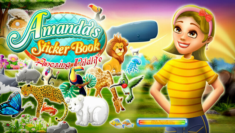 Amandas Sticker Book: Amazing Wildlife