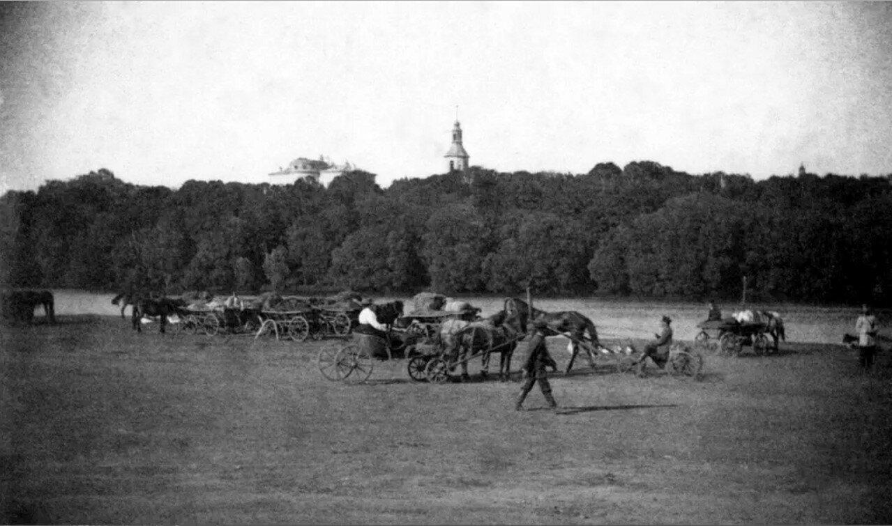 Вид на дворец графа Бобринского. 1913