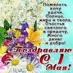 Поздравляю 1 мая! Удачи, солнца, мира и тепла! открытки фото рисунки картинки поздравления