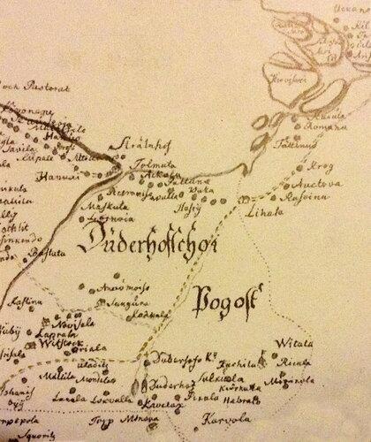 7. Дудергофский погост 1690 КА фрагмент Генерального плана.jpg