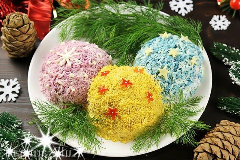 Салат «Елочные шары» к Новому году и другим праздникам