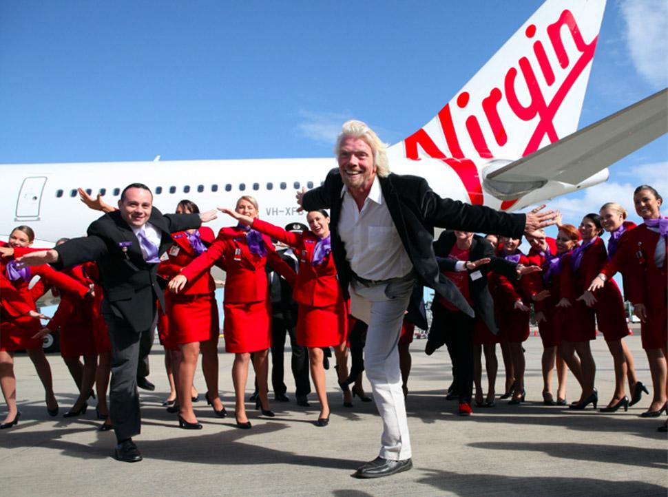2. Путешествия — 31%. Ричард Брэнсон и коллектив авиакомпании Virgin Australia.