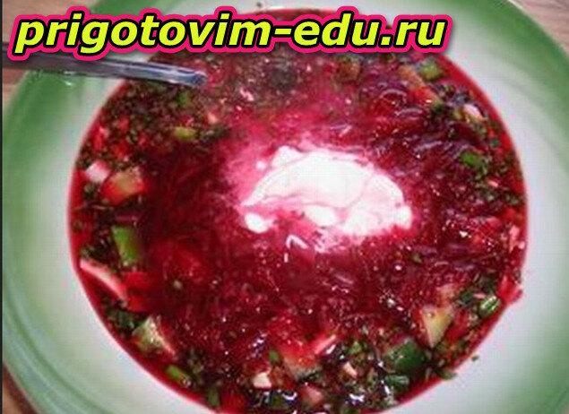 Рецепт борщ с вишнями