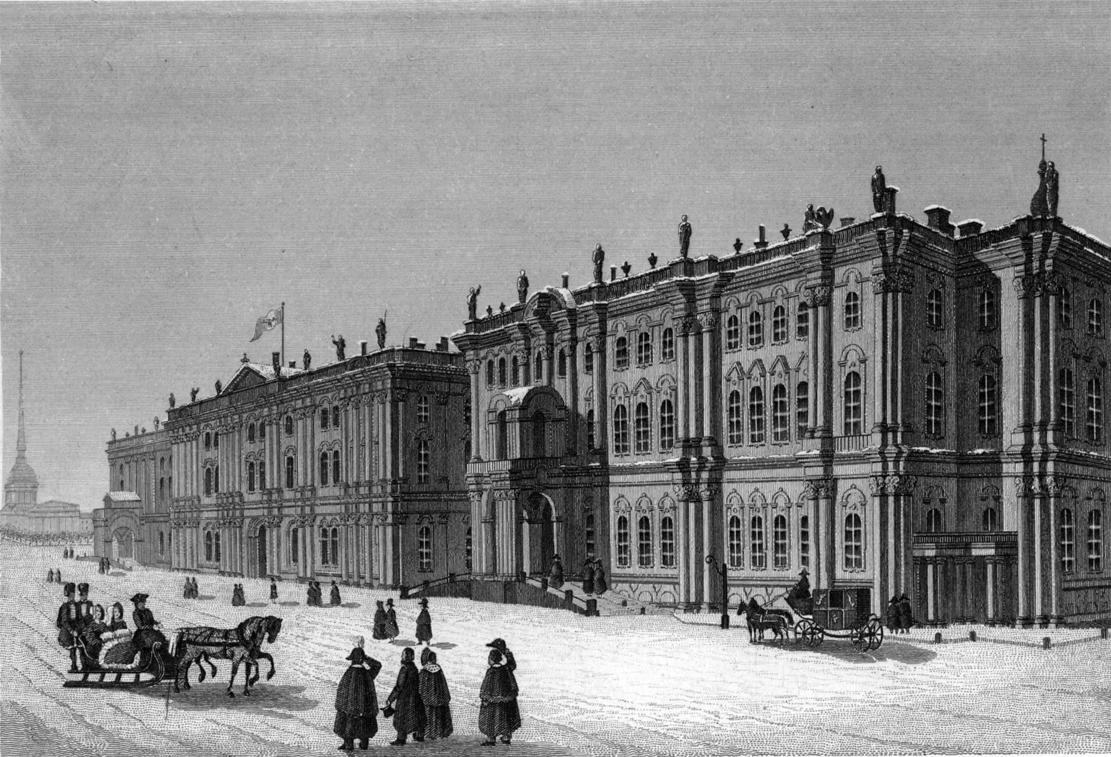 38. Зимний дворец со стороны площади