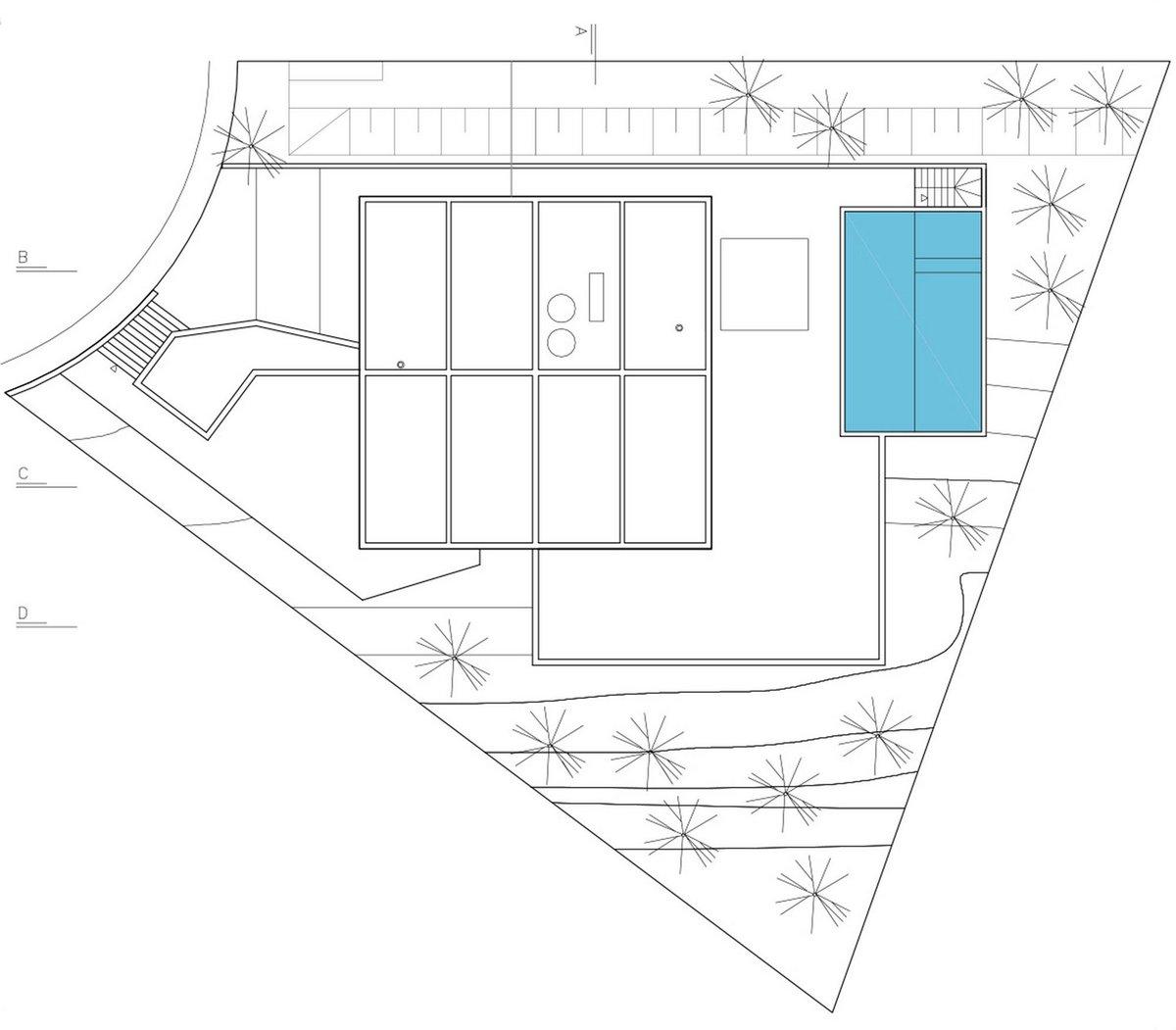 House JJ, Obra Arquitetos, современный частный дом с бассейном фото, терраса с бассейном в частном доме фото, молодежный частный дом фото