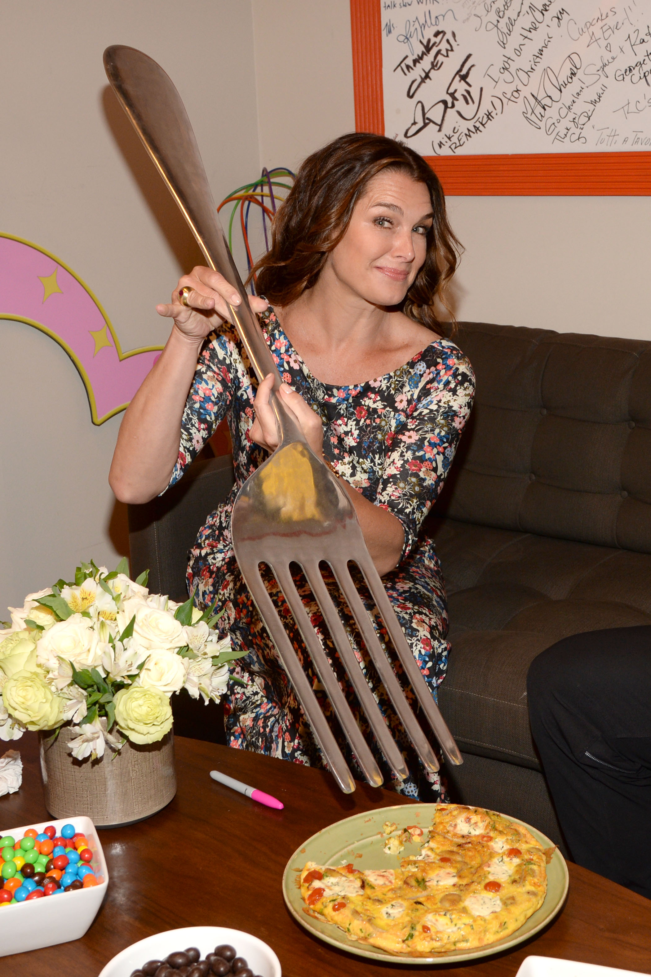 Brooke Shields Backstage at The Chew