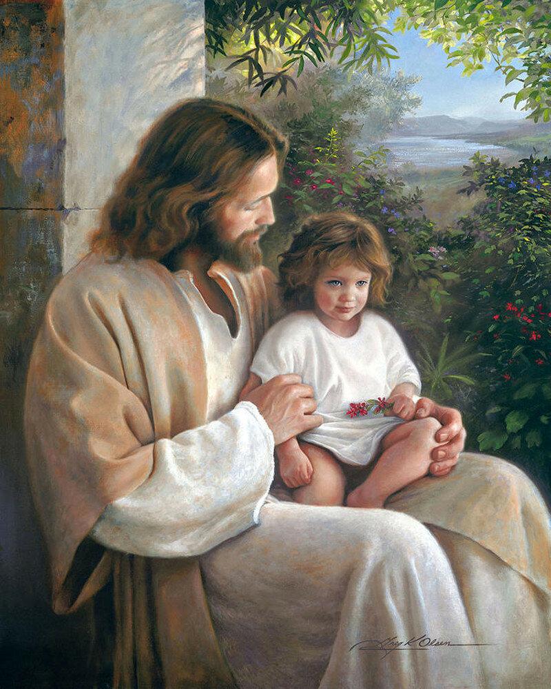 бог картинки с детьми цветы