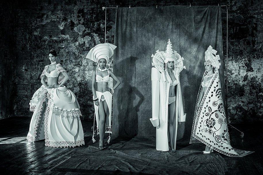 Удивительные свадебные платья из бумаги