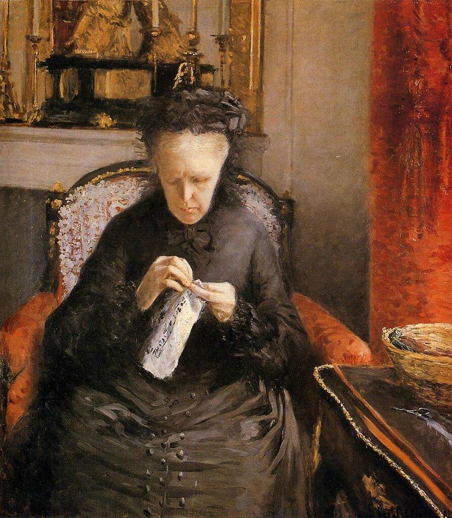 Мадам Марсьяль Кайботт, мать художника