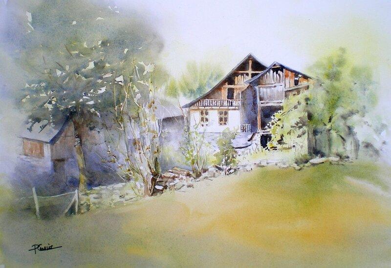 Ты весна! Ты утро акварельное! Французская художница Рейн-Мари Пинчон
