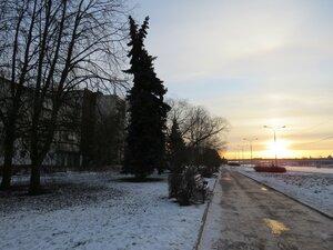 Набережная Александра Невского - Новый год в Великом Новгороде