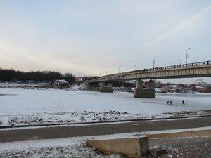 Мост Александра Невского - Новый год в Великом Новгороде