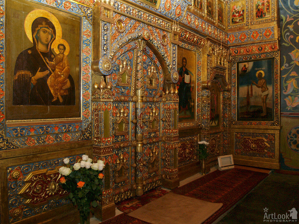 The Local Tier of iconostasis of St. Basil the Blessed Chapel - St. Basil's Cathedral