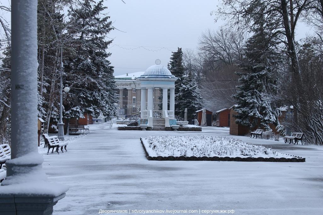 Весеннее зимнее утро - Волжский - парк ВГС 15 марта 2016