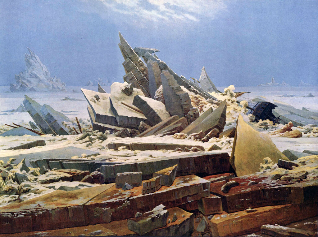 The Wreck of Hope, The Sea of Ice (Polar Sea), (1823-24) Kunsthalle, Hamburg.jpg