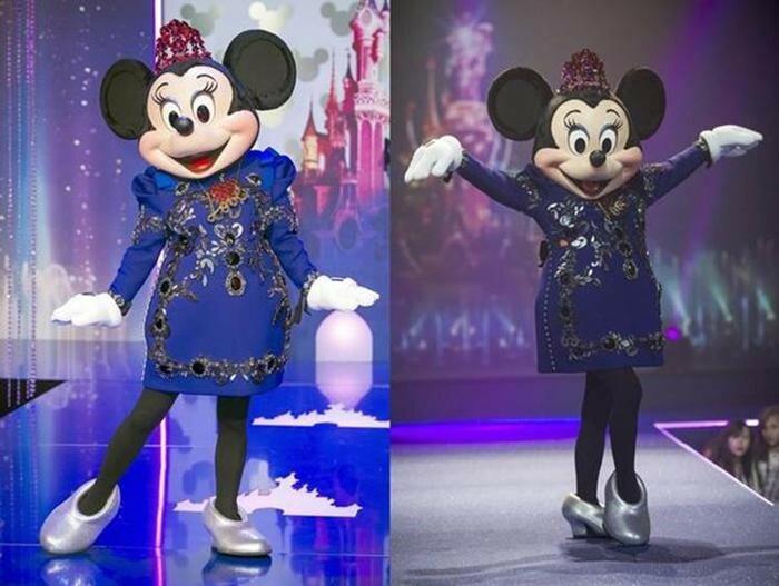 Подросшая Минни Маус примерила модное платье