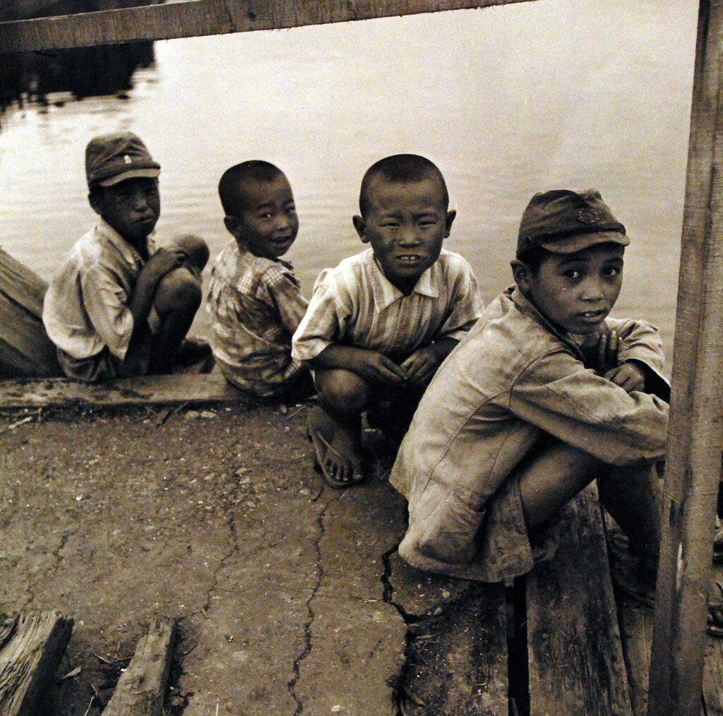 Japanese civilian boys. September 1945