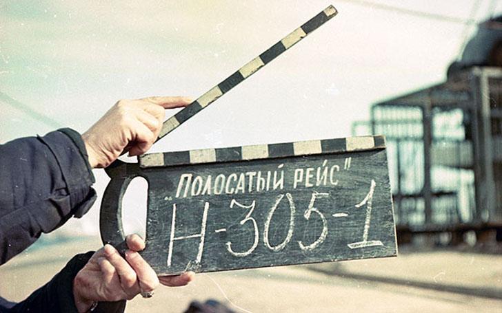 Как снимали фильм «Полосатый рейс» (9 фото)