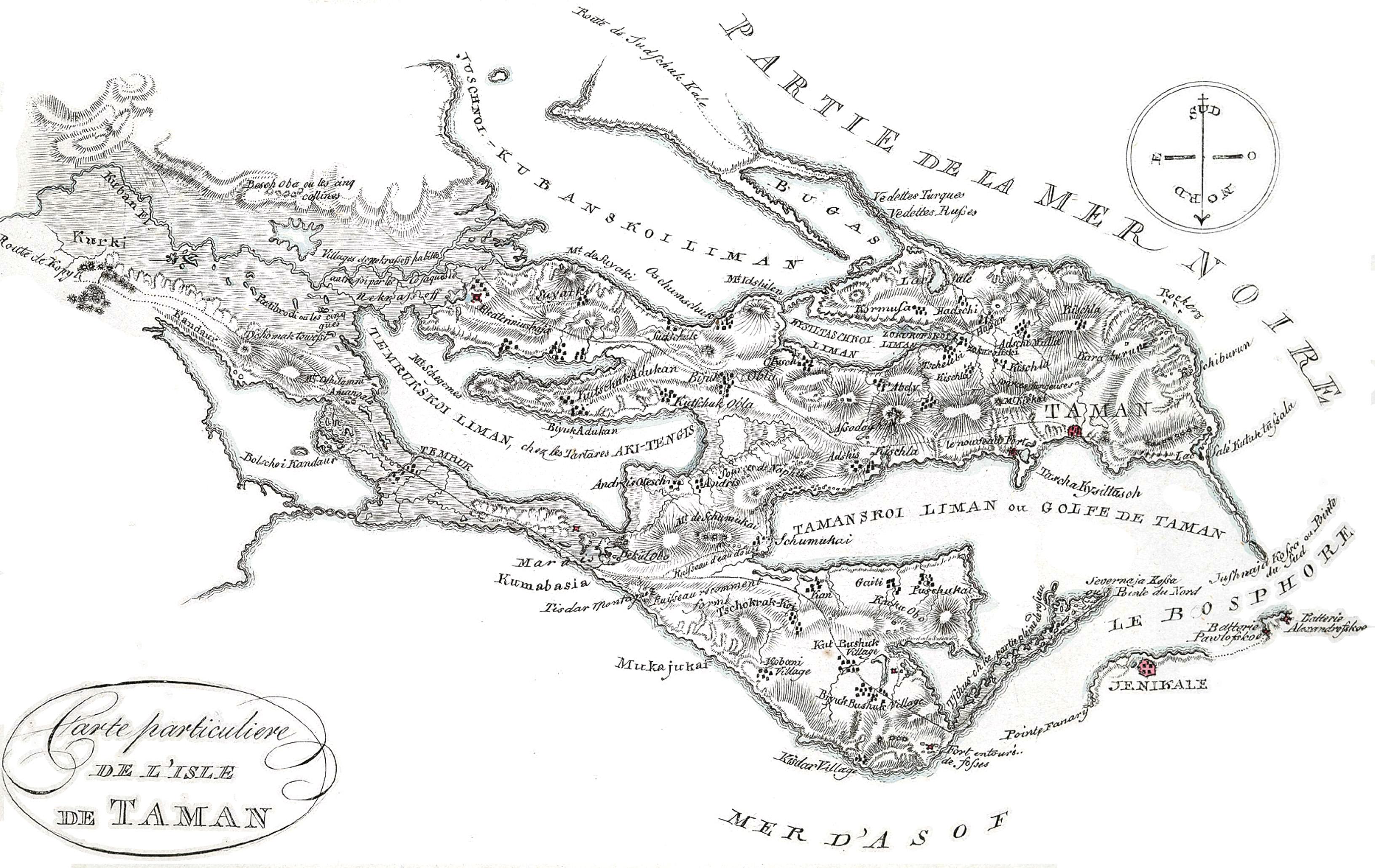 2-19. Специальная карта замечательного острова Тамани.