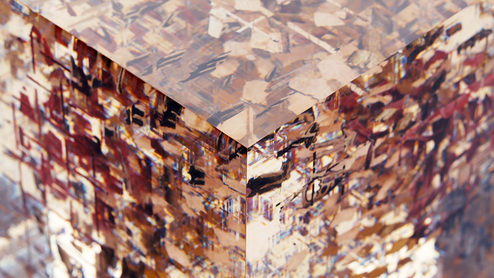 This Translucent Cube Hides Six Handpainted Anamorphic Images