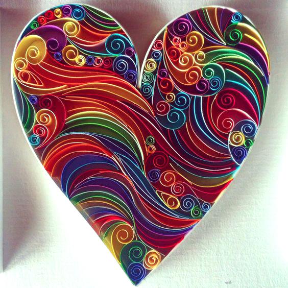 Сердца в технике квиллинг