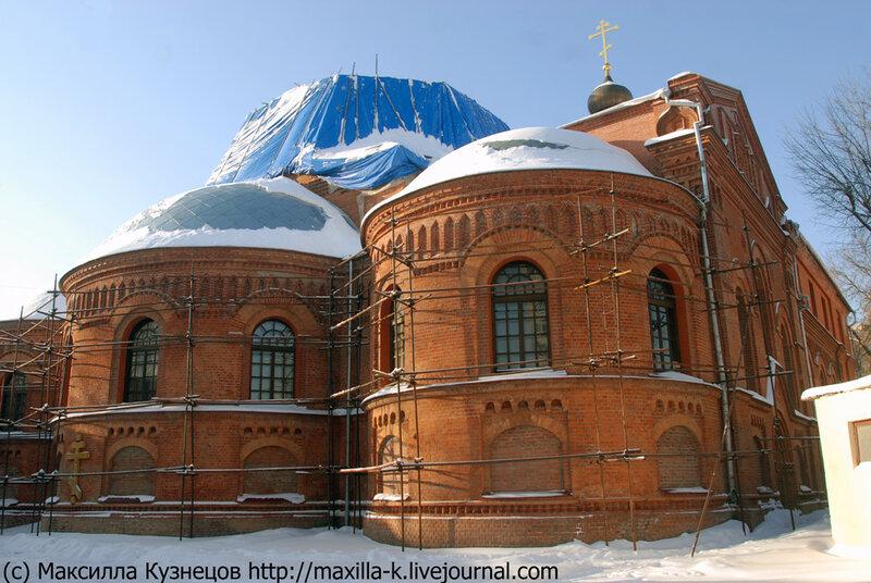 Строительство церкви Иерусалимской Богоматери