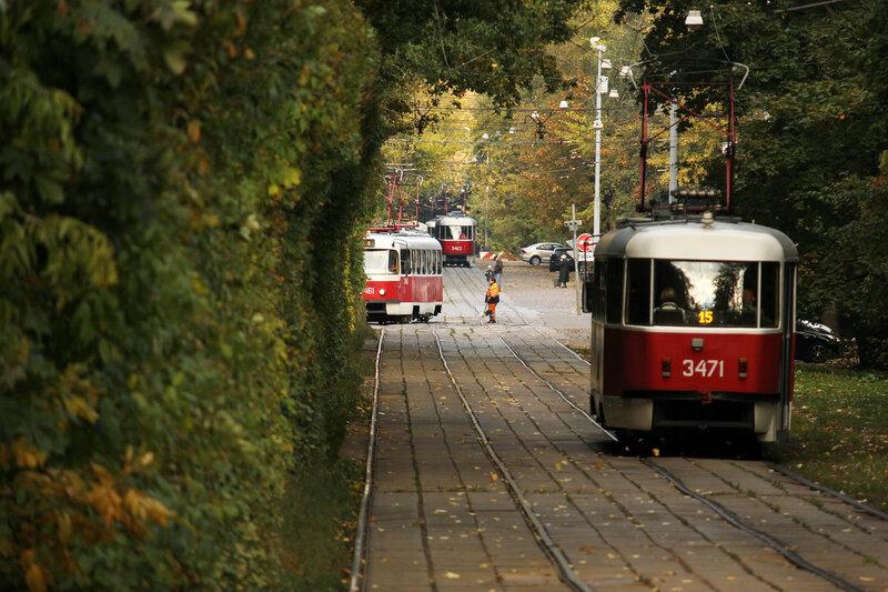 Трамвайный поворот на Братцево