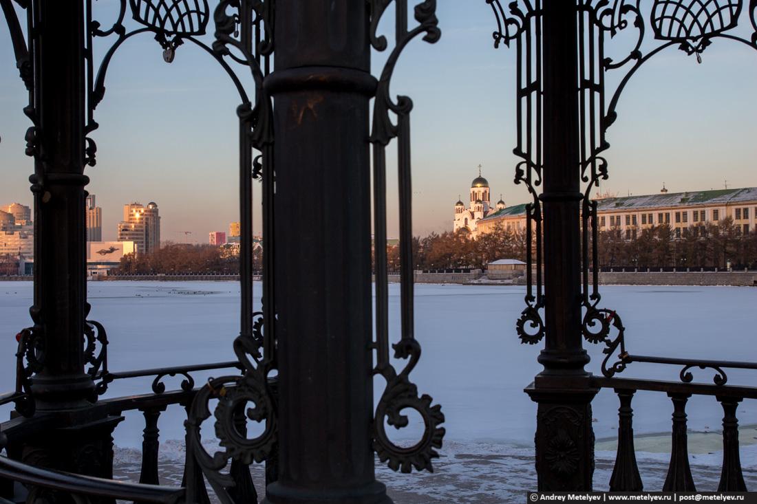 пруд в центре Екатеринбурга