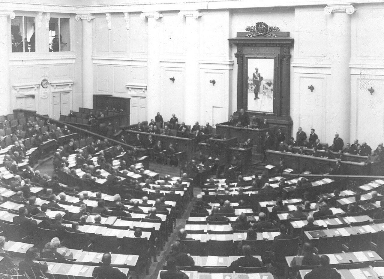 Заседание Третьей Государственной думы в Таврическом дворце