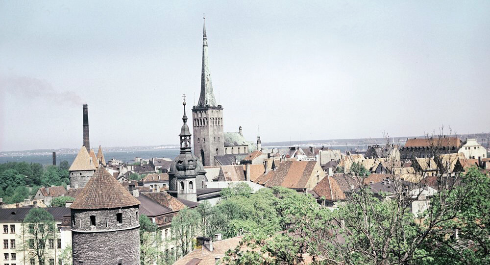 1967 ancient bastions and the fortress of Oleviste in Tallinn.jpg