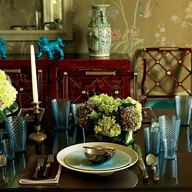 Dining room interior in the Chinese style