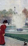 """Parisienne Au Rond-Point Des Champs-ElyseesOil on panel27.3 x 40.6 cm(10¾"""" x 15.98"""")Public collection"""