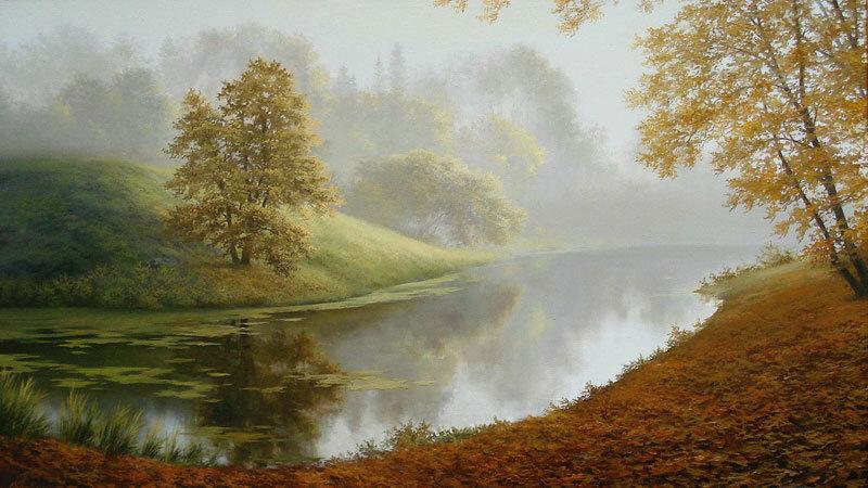 Карлович Евгений.  Осенняя река