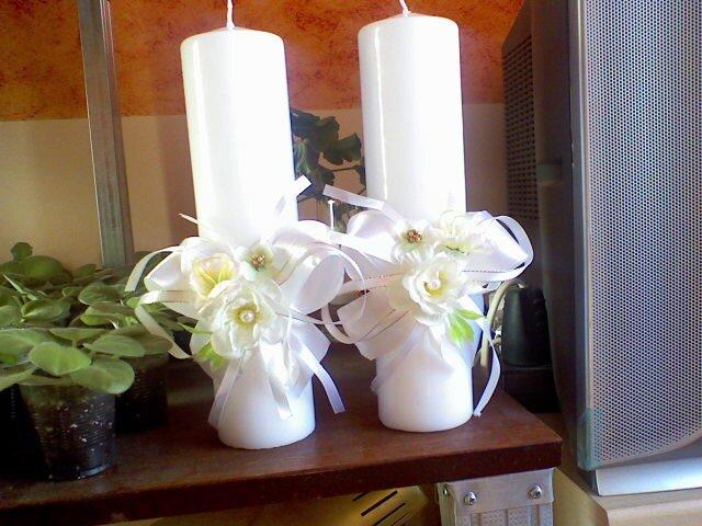 Свадебный,фото из нета .бокалы,свечи.
