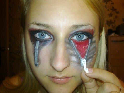 Фото макияжа на хэллоуин своими руками