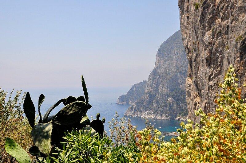 Вид с высоты. Остров Капри. Италия